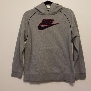 Nike grey hooded sweatshirt